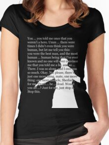 Reichenbach Fall (for dark base colours) Women's Fitted Scoop T-Shirt