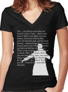 Reichenbach Fall (for dark base colours) Women's Fitted V-Neck T-Shirt