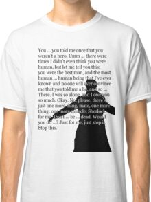 Reichenbach Fall (for light base colours) Classic T-Shirt