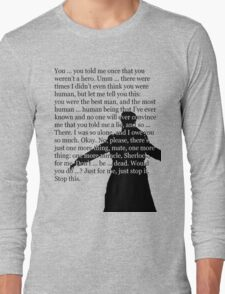 Reichenbach Fall (for light base colours) Long Sleeve T-Shirt
