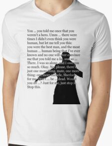 Reichenbach Fall (for light base colours) Mens V-Neck T-Shirt