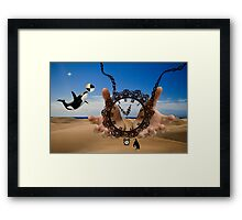 The Hands Of Time... Framed Print