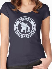 Michigan Bronies/Pegasisters Group Tee Women's Fitted Scoop T-Shirt