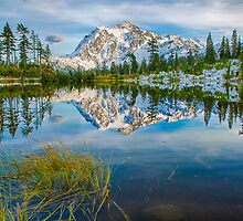Mount Shuksan and Picture Lake at Heather Meadows by Jim Stiles