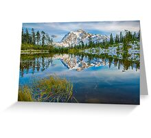 Mount Shuksan and Picture Lake at Heather Meadows Greeting Card