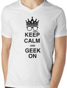 Keep Calm…GEEK On Mens V-Neck T-Shirt