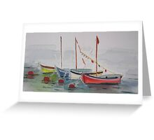 Petite Boats France Greeting Card
