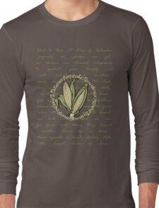 ears of splendor pledge in sepia Long Sleeve T-Shirt