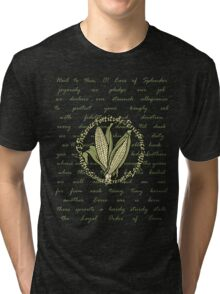 ears of splendor pledge in sepia Tri-blend T-Shirt