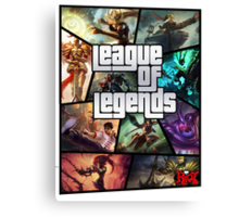 League of Legends GTA Poster Canvas Print