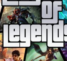 League of Legends GTA Poster Sticker