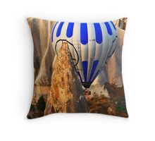Between a rock and a hard place Throw Pillow