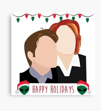 A Very X Files Christmas Canvas Print