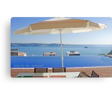 lunch view at a house I have designed Canvas Print
