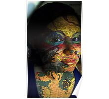 Self-Portrait with Face Paint Poster