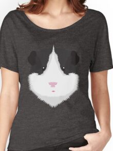 Black and White Guinea Pig Women's Relaxed Fit T-Shirt