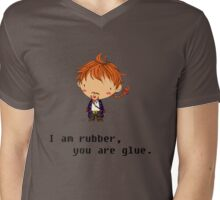 I am rubber Mens V-Neck T-Shirt