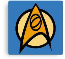 Star Trek TOS, Science Combadge Canvas Print