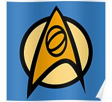 Star Trek TOS, Science Combadge Poster