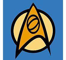 Star Trek TOS, Science Combadge Photographic Print