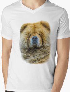 Chow portrait Mens V-Neck T-Shirt
