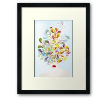 Colorful thoughts Framed Print