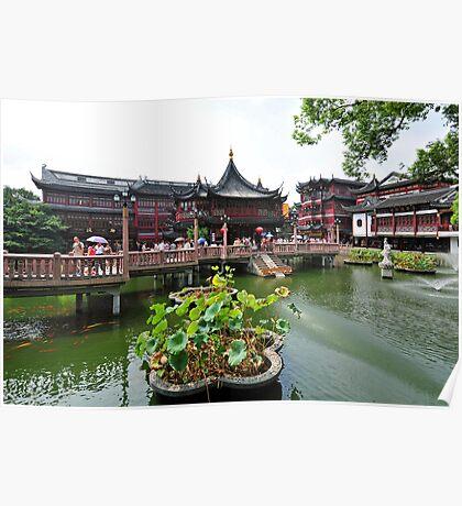 Yuyuan Gardens, Shanghai, China. Poster