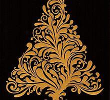 Swirly Christmas Tree by MrsTreefrog