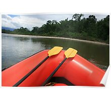 Paddles on a Rubber Raft Poster