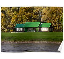 SPEY GREEN FISHING HUT Poster