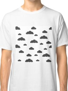 Black clouds on white Classic T-Shirt