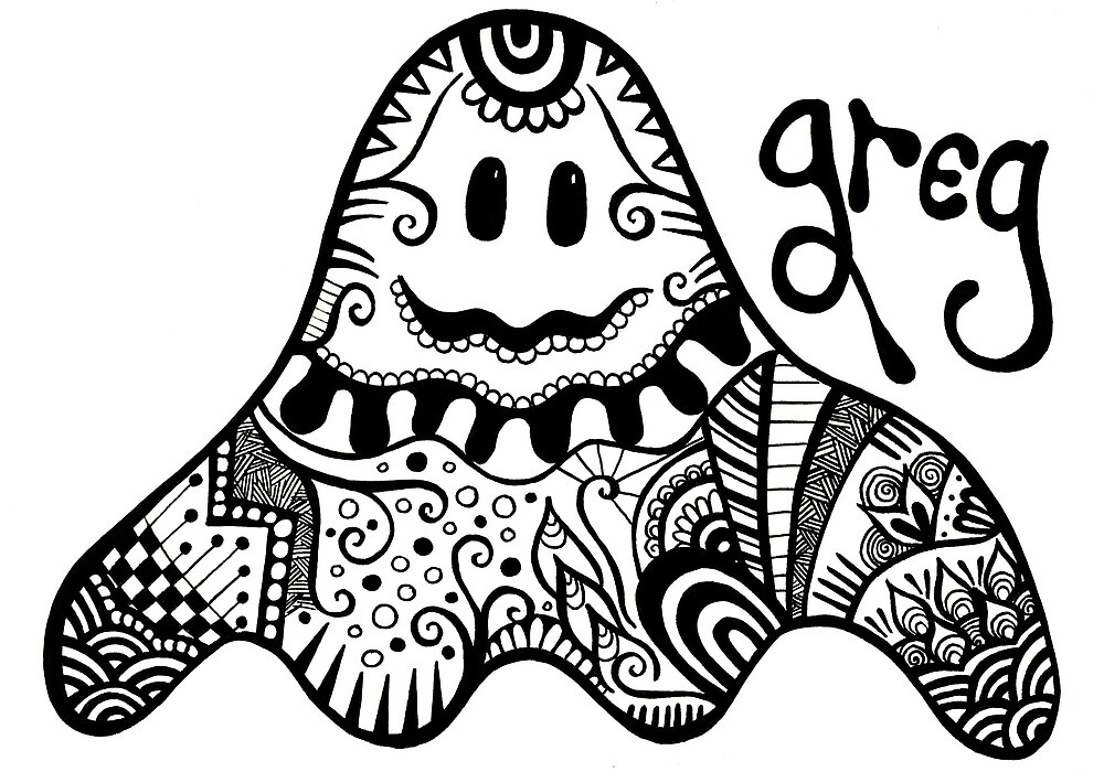 Greg the Ghoulish Ghost. by Wealie