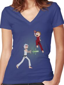 Rick Fighter 2 Women's Fitted V-Neck T-Shirt