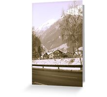 Austria winter time Greeting Card