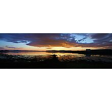Bay Of Tranquility - Purple and Red and Yellow and on fire Photographic Print