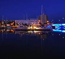 Marina Reflections by Douglas Bell
