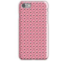Studded Checkerboard Light on Coral Pink 1@50 iPhone Case/Skin