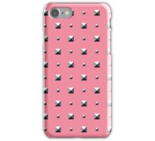 Studded Double Polka stud on Coral Pink 1 iPhone Case/Skin