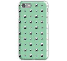 Studded Double Polka stud on Mediterranean Mint 1 iPhone Case/Skin