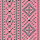 Studded Southwest Stripe on Coral Pink 1 by aygeartist