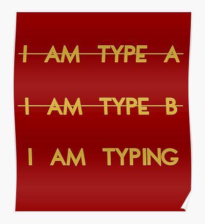 My personality type Poster