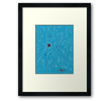 SpaceSunBlue Framed Print