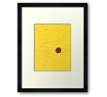 SpaceSunYellow Framed Print