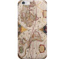 Vintage World Map Circa 1600 iPhone Case/Skin