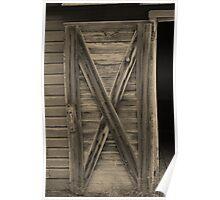 Wooden Barn Door in Sepia Poster