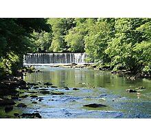 Waterfall on River Almond at Cramond Photographic Print