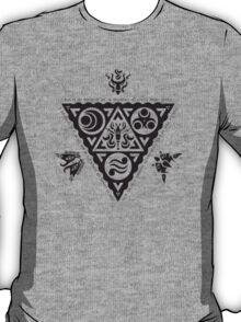 Waker of Winds Tri-Force (Black) T-Shirt