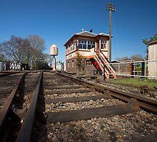 Railway Tracks & Signal Box by Simon Lawrence
