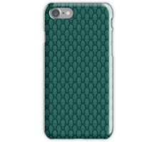 Vintage Baroque Pattern in Green iPhone Case/Skin