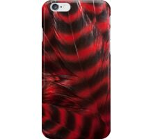 Soft Red and Black Feathers iPhone Case/Skin